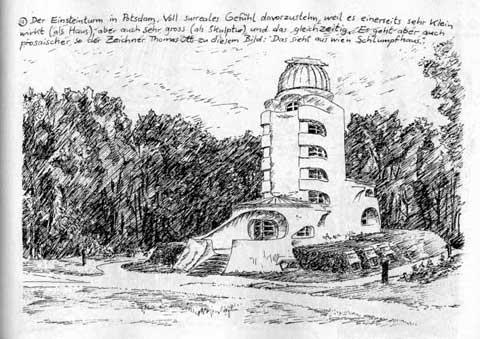 Schizzo della Einsteinturm