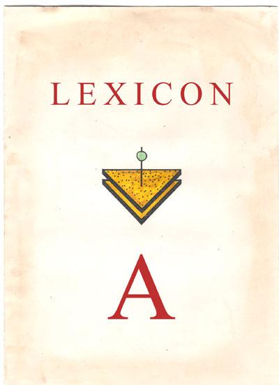 Copertina Lexicon lettera A