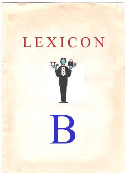 Copertina Lexicon lettera B
