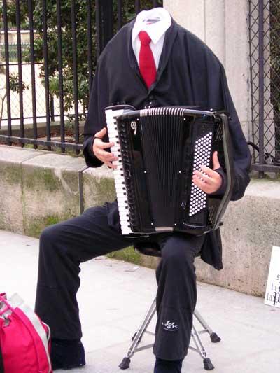 Musicista senza testa