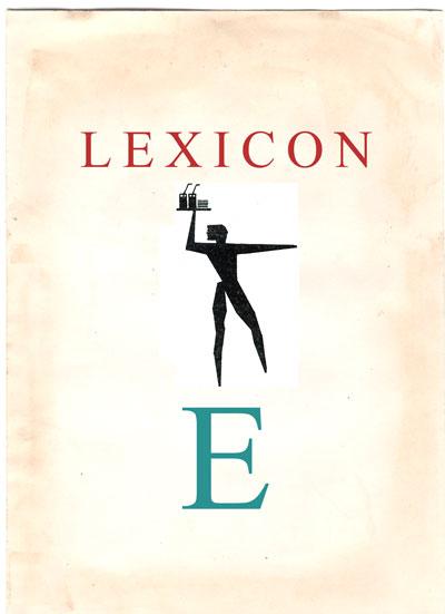 Copertina Lexicon lettera E