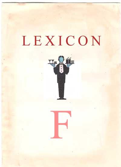 Copertina Lexicon lettera F