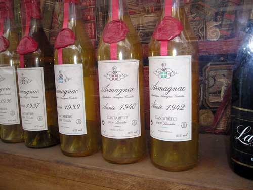 Vecchissime bottiglie di Armagnac