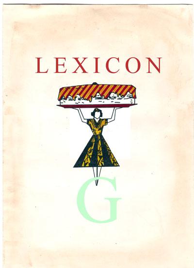 Copertina Lexicon lettera G