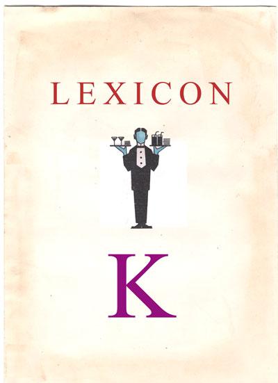 Copertina Lexicon lettera K