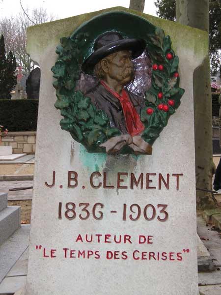 J.B. Clement - Auteur de: Le temps de cerises