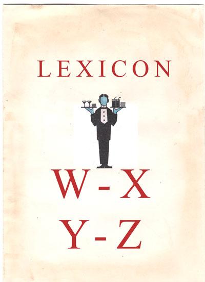 Lexicon - W, X, Y, Z